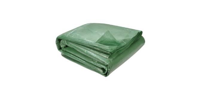 Bâche verte pour serre de jardin de 6, 18 ou 24 m²