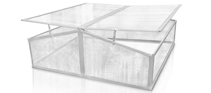 Serre chassis polycarbonate double ouvertre - Berlan - BFB202 - 109 x 109 x 41 cm